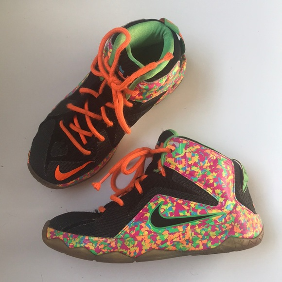 on sale 71f48 bfcfc LeBron James Nike Cereal Fruity Pebble Sneakers
